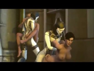 Returns of Robotics 5 (Futa EDI orgy) compilation orgy