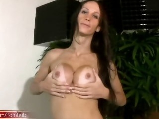 FULL video be worthwhile for Filamentous TS beauty stroking breasts and shecock brunette big tits
