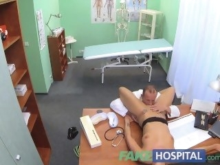 FakeHospital Glum suspicious doctors wife has hot sex with him in office blonde amateur