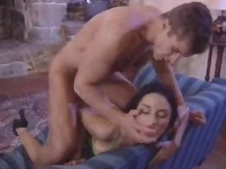 Horny euro slut one cock assfucking brunette orgy