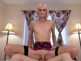 Sissy compilation 1 small tits shemale fucks shemale