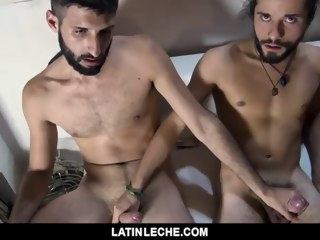 LatinLeche - Latin Twink Gets Routine blowjob latinleche