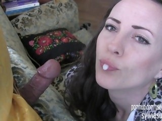 Holy Glare of Glory Hole or Whither Was U Hid Dad?! Sylvia Chrystall HD. blowjob amateur