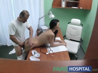 FakeHospital Doctor fucks Porn actress abstain from desk relative to private clinic big tits amateur