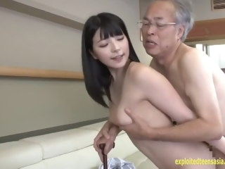 Jav Idol Ai Uehara Fucks Old Duffer On The Couch She Rides babe asian