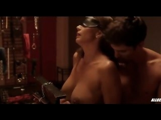 Charisma Carpenter unconcealed and blind folded bondage big tits
