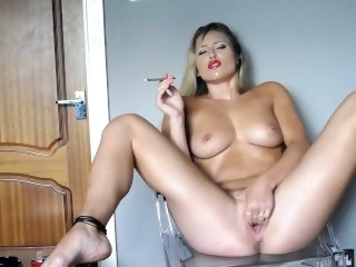 Mr Big Hot Blonde Doll Smoking Masturbation masturbation big ass