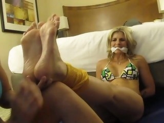 Tied up Foot Worship/Tickle bondage amateur