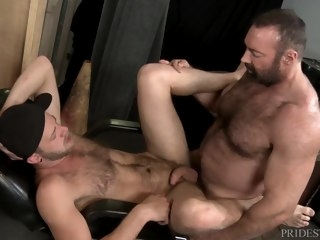 Big Bear Padre Brad Kalvo Fucks Younger Boy's Hairy Aggravation hairy pridestudios