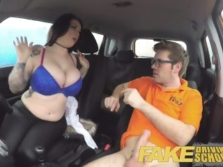 Sketch Driving School busty jailbird takes instructor on a wild ride! hardcore big tits