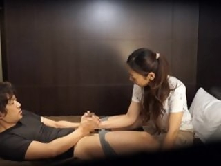 Japanese hotel massage gone objurgate Subtitled in HD brunette zenra
