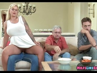 Blonde Wife Cheats approach Husband milf mature