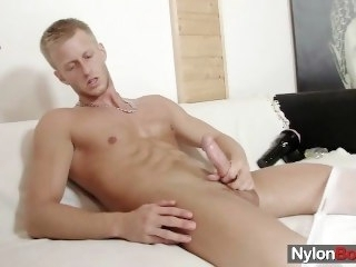 David masturbates in nylons work vulnerable him cums her high horse pantyhose solo male fetish