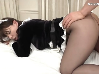 japanese pantyhose maid sexual congress nylon fuck upskirt hardcore
