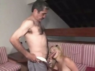 Daddy fucks his daughter's team up big cock hardcore