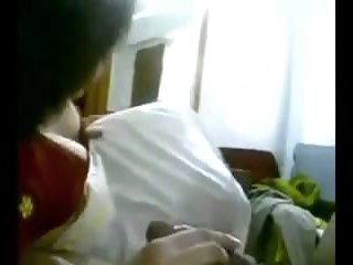 newly married desi indian big boob hot spliced sucking blowjob babe
