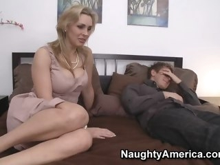 Tanya Tate & Danny Wylde in My New Zealand Hot Mom blowjob big tits