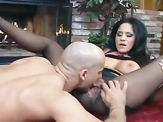 Busty Jenaveve gender adjacent to pantyhose upon a ripped away crotch fetish big tits