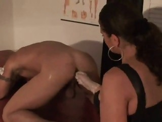RUSSIAN BABES STRAPING A MAN fisting fetish