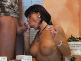 Smoking fetish-sexy lady smoking blowjob milf big tits
